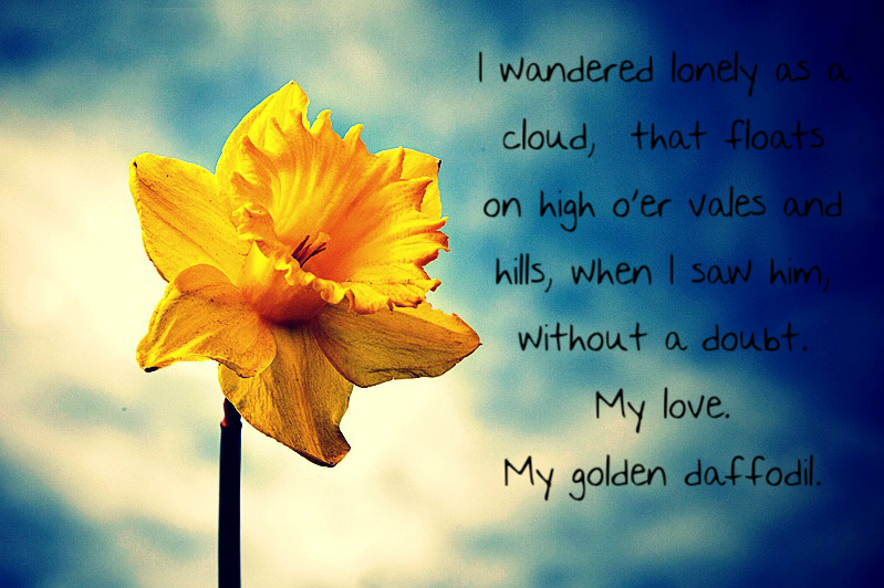 I Wandered Lonely As A Cloud My Love