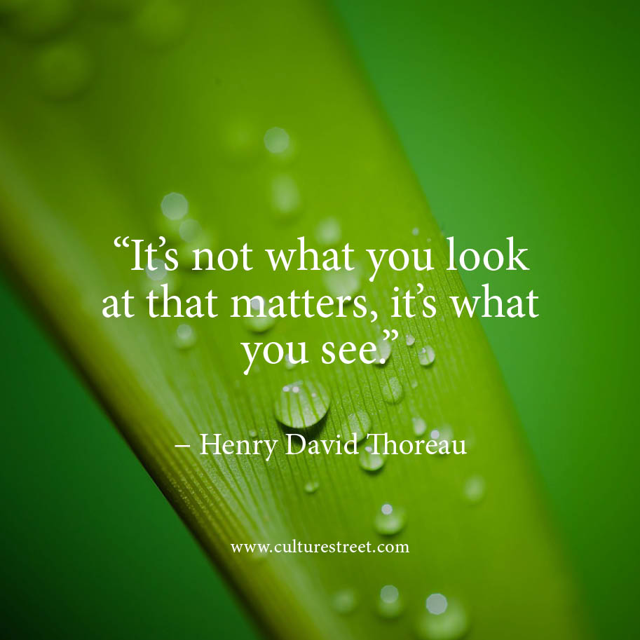 It Is Not What You Look At That Matters