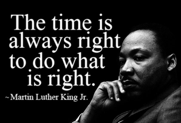 Martin The Time Is Always Right To Do Pices