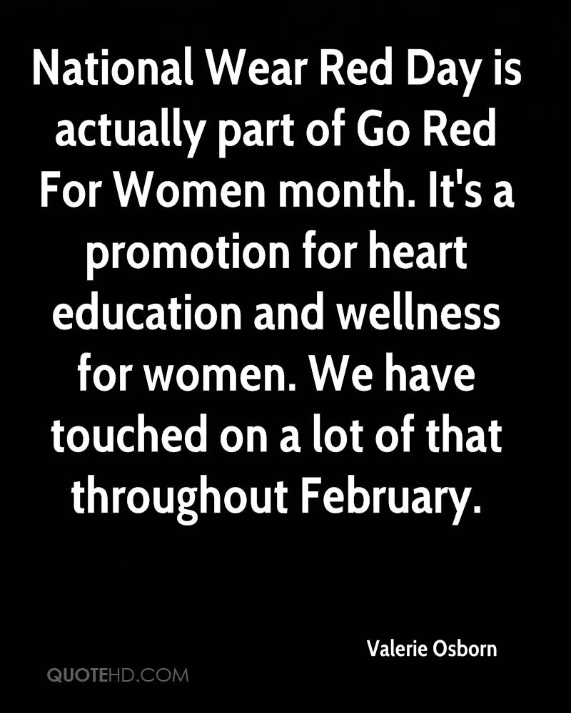 National Wear Red Day Is For Woman Month