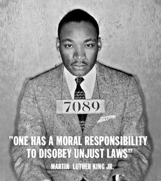 One Has A Moral Responsibilty Martin Luther King Jr. Message