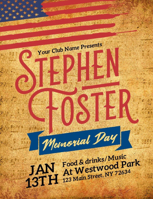 Stephen Foster Memorial Day 13 Jan