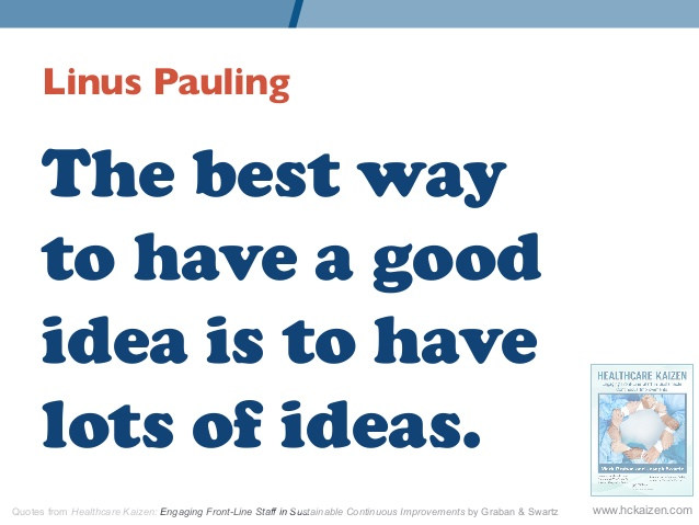 The Best Way To Have A Good Idea Is To Have Lots Of Ideas Words