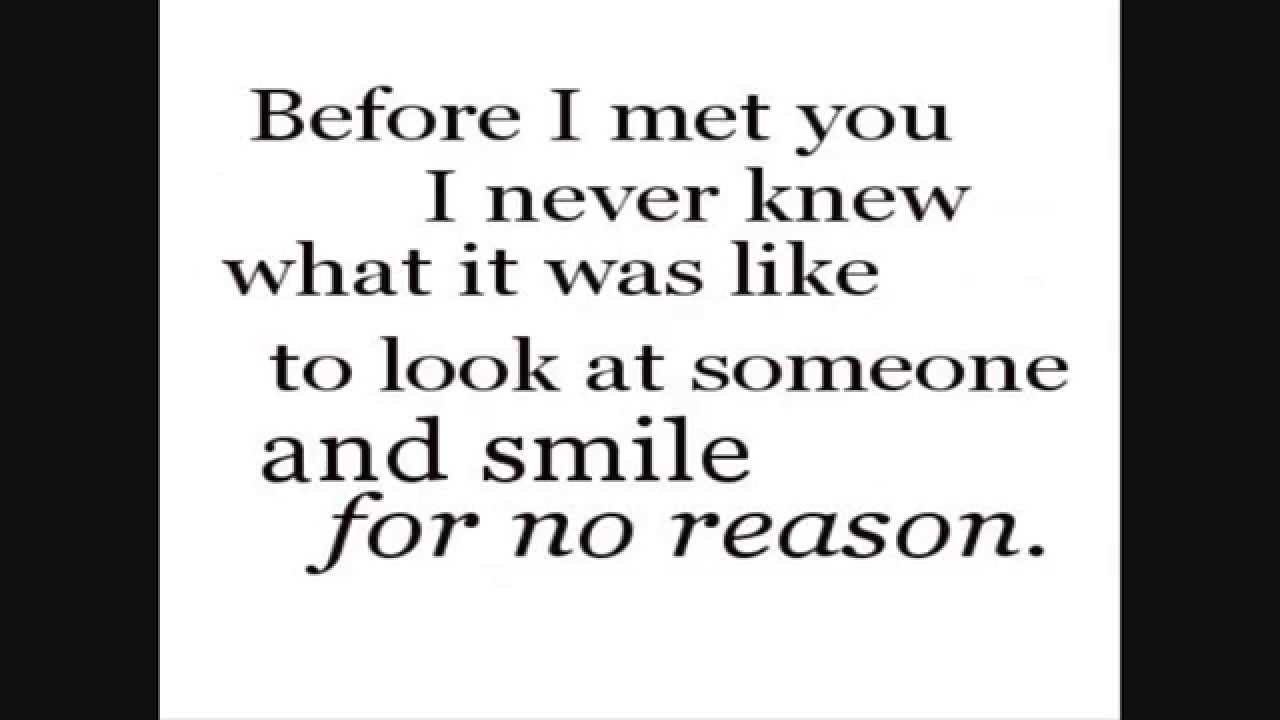 Before I Met You I Never Knew