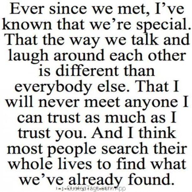 Even Since We Met Trust You I Love My Boyfriend Quotes