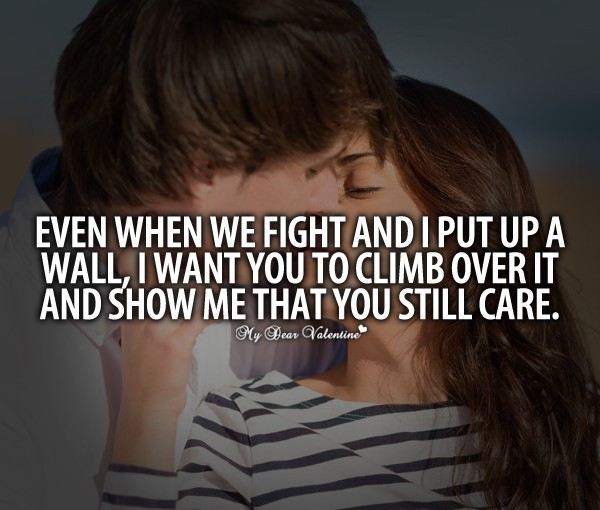 Even When We Fight And Put Up