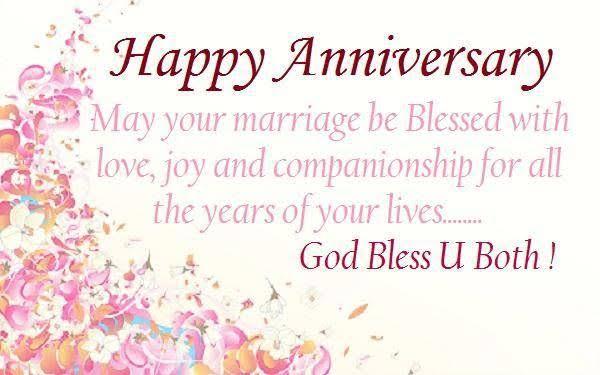 God Bless U Both Happy Anniversarys