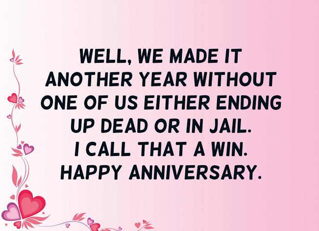 I Call That A Win Happy Anniversary