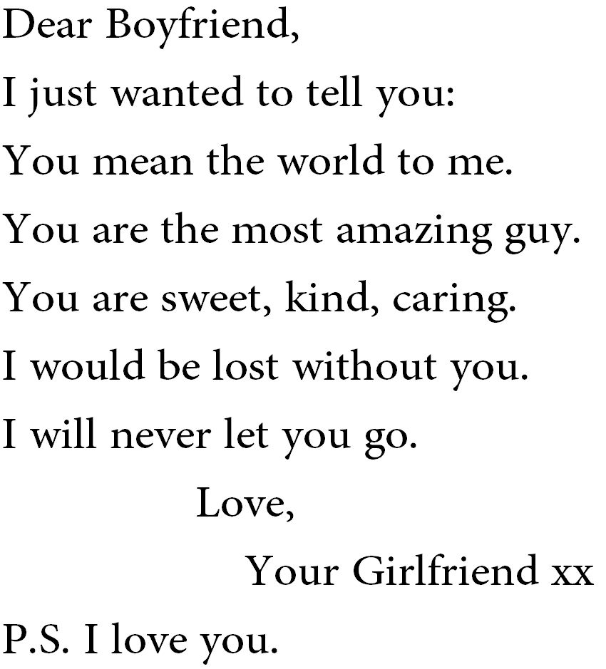 Just Wanted To Tell You I Love My Boyfriend Quotes