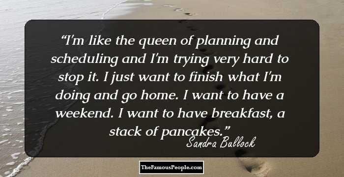 Like The Queen Of Planning And Trying Hard