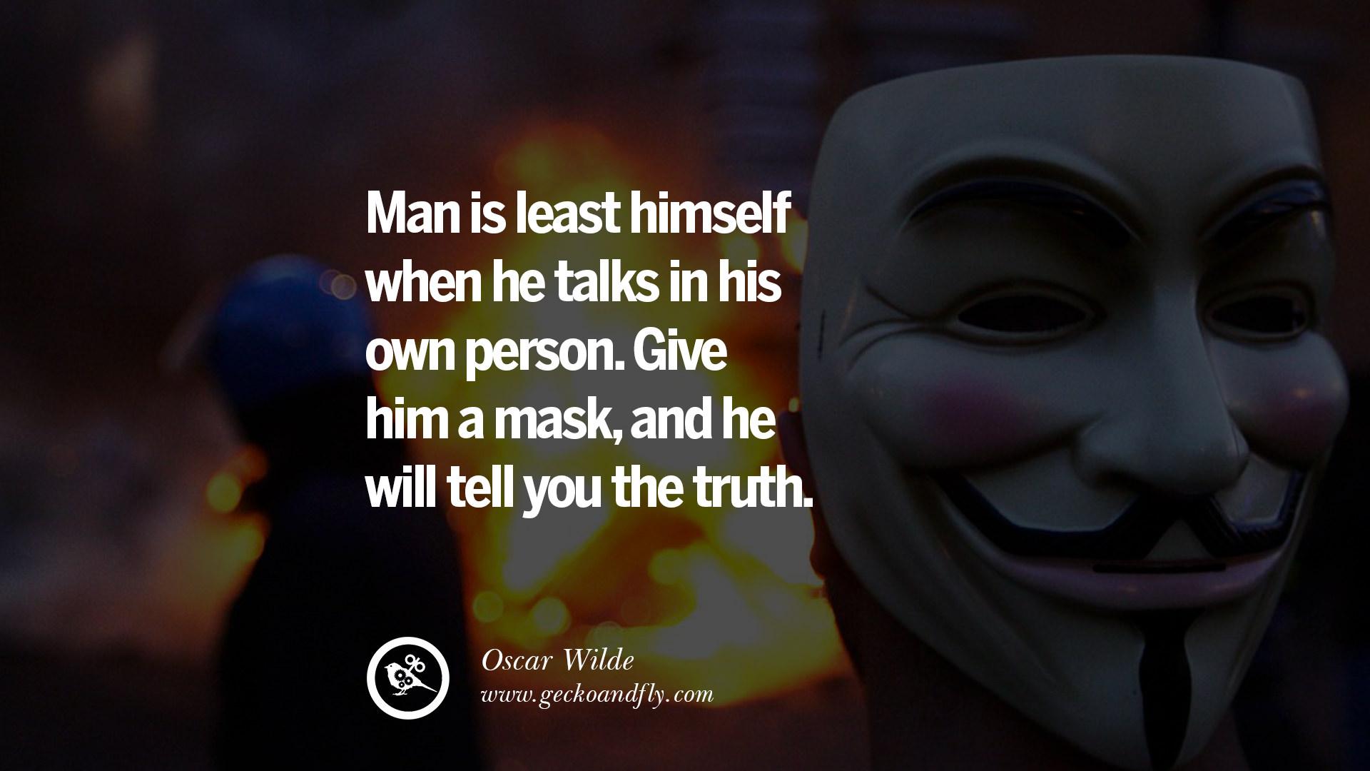 Man Is Least Himself When He Talk
