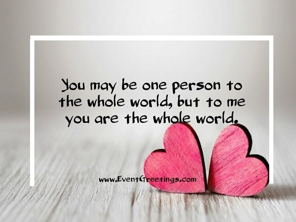 May Be  One Person To The Whole World
