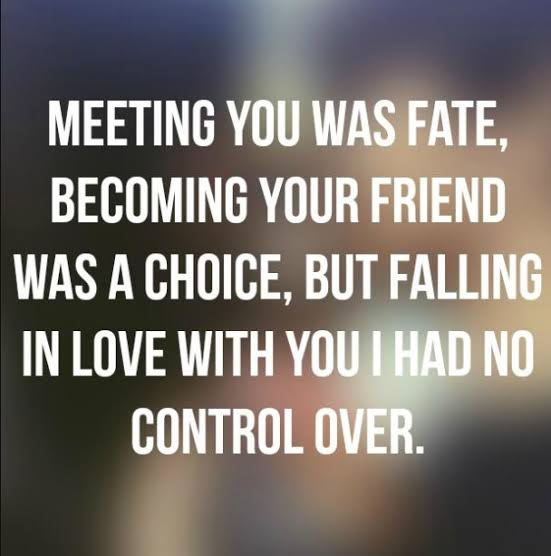 Meeting You Was Fate Become Your Friend