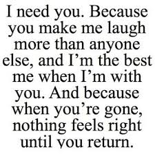 Need You Because You Make