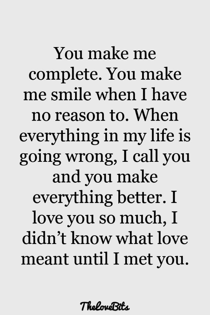 You Make Me Complete And Smile