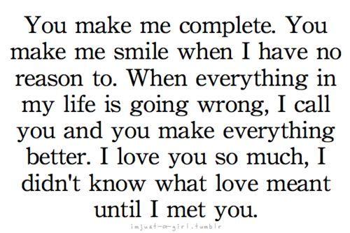 You Make Me Complete You Make Me