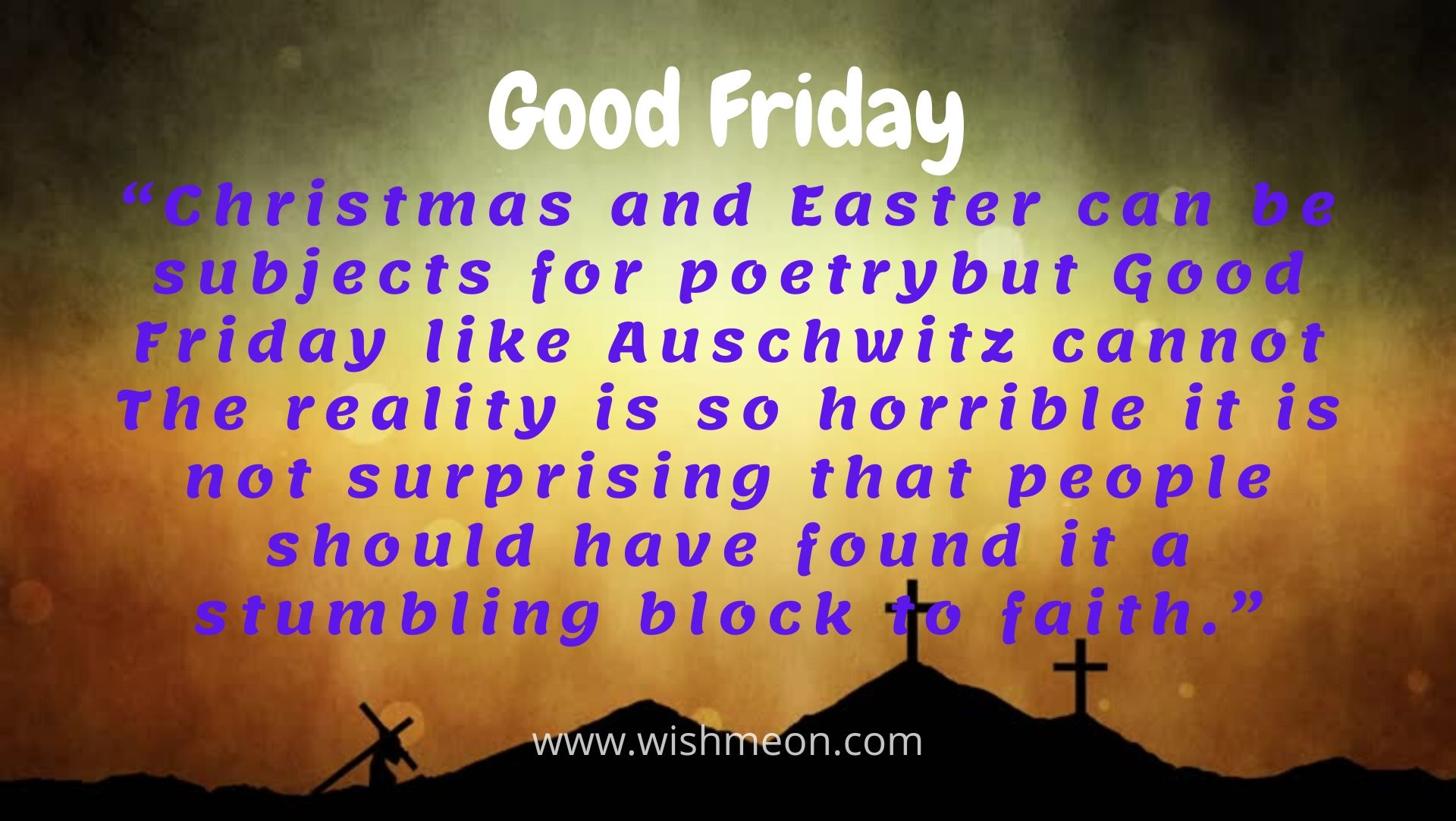 Christmas And Easter Can Be Subjects For Poetrybut