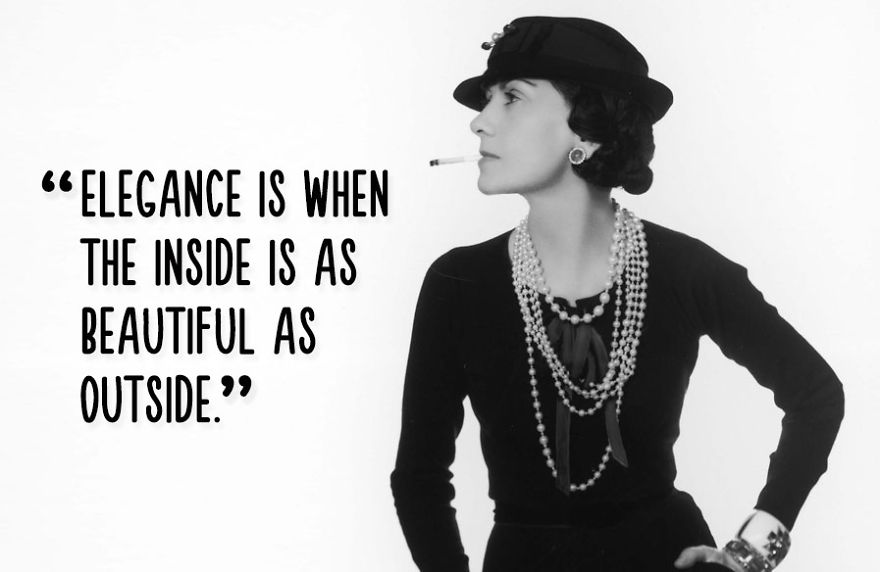 Elegance Is When The Inside