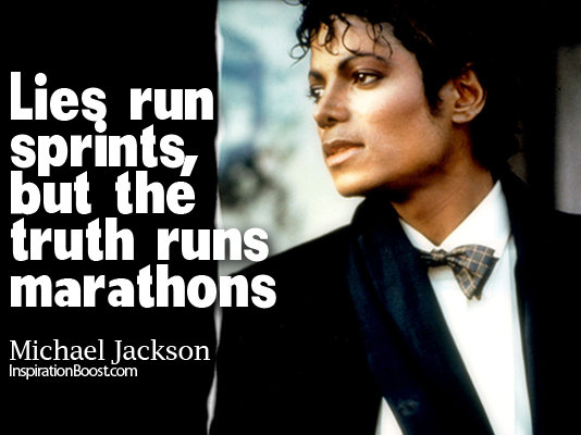 Lies Run Sprints But The Truth