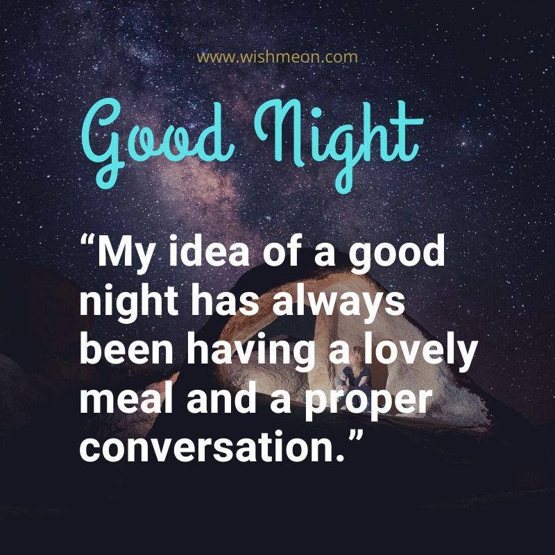My Idea Of A Good Night Has
