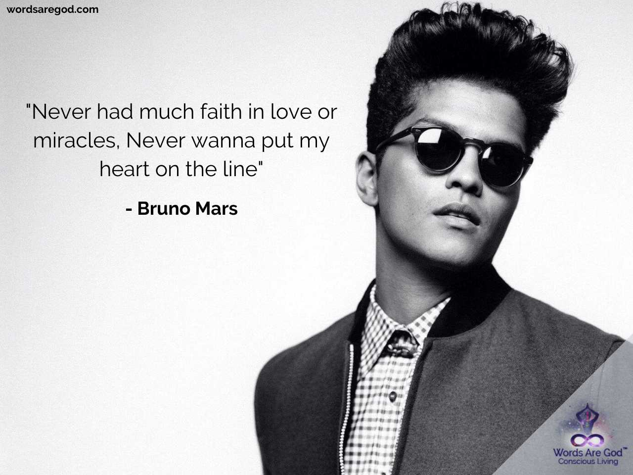 Never Had Much Faith In Love Or Miracles Never