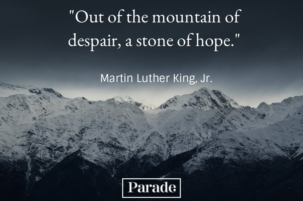 Out Of The Mountain Of Despair A Stone Of Hope