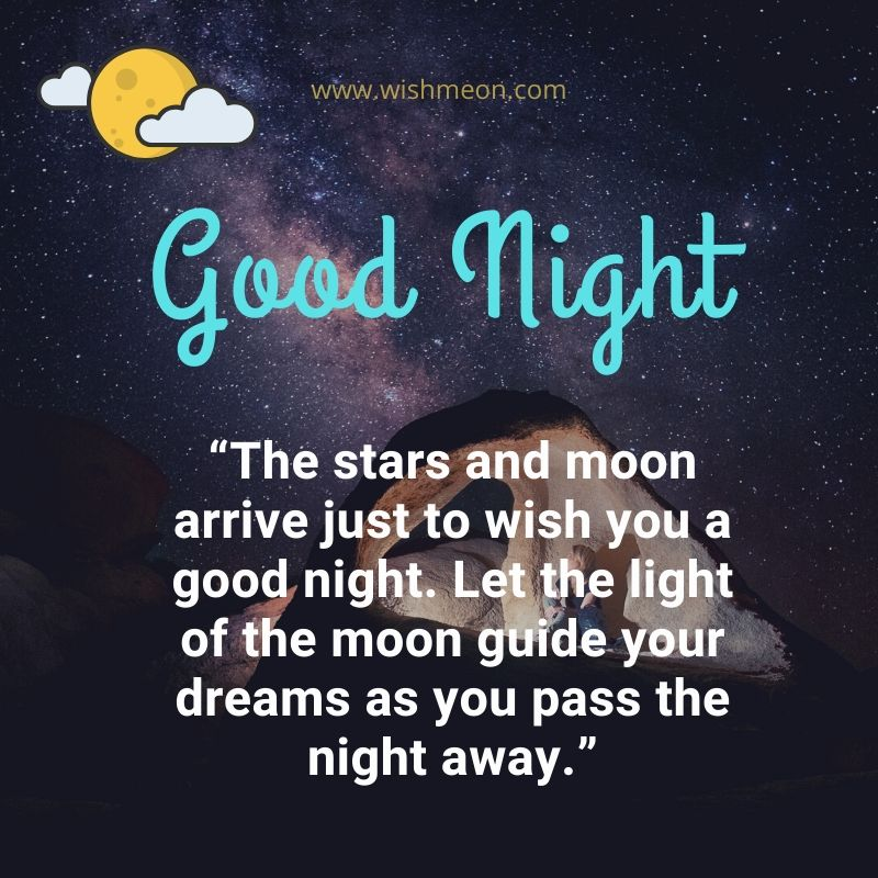 The Stars And Moon Arrive Just