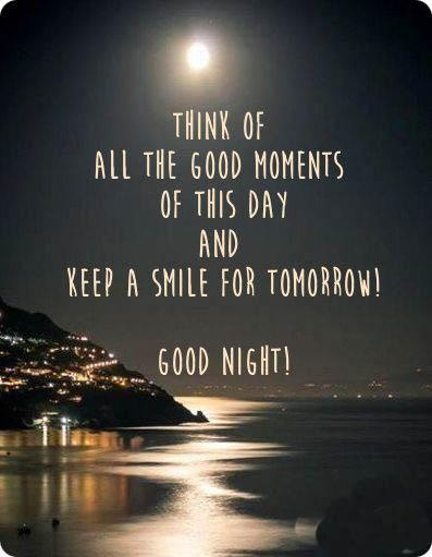 Think Of All The Good Moments Of