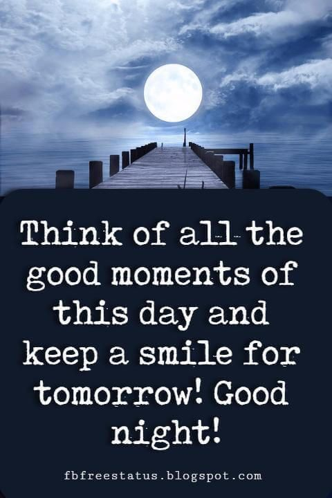 Think Of All The Good Moments