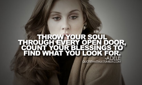 Throw Your Soul Through Every Open Door