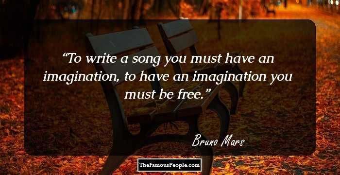 To Write A Song You Must Have An Imagination