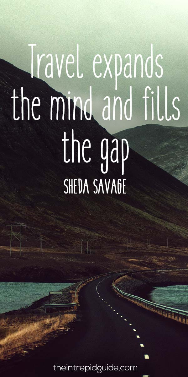 Travel Expands The Mind And Fills The Gap