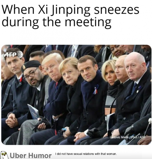 When Xi Jinping Sneezes Durning The Meeting