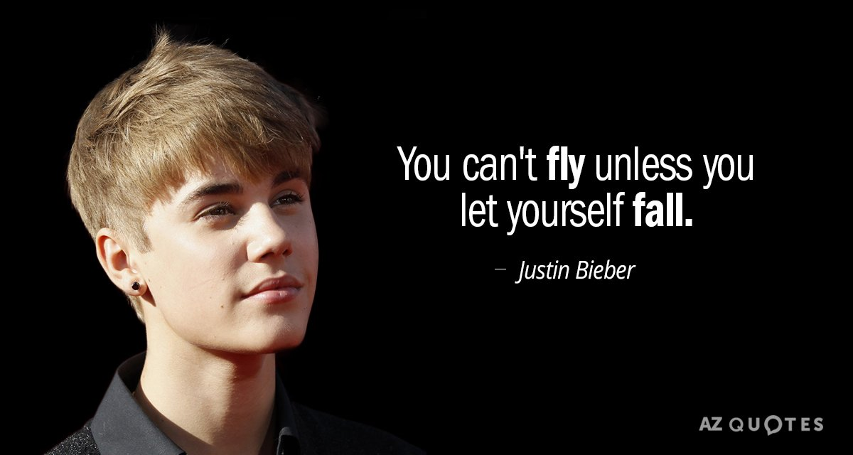 You Cant Fly Unless You Let Yourself Fall