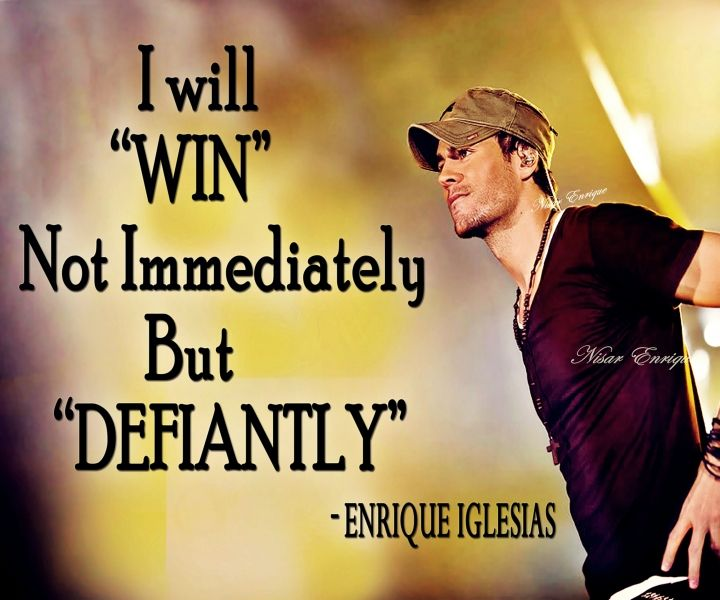 I Will Win Not Immediately But Defiantly