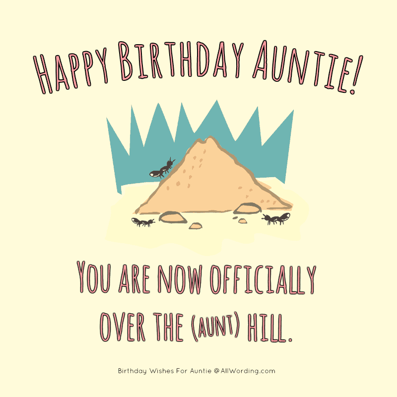 Aunthill Happy Birthday Auntie