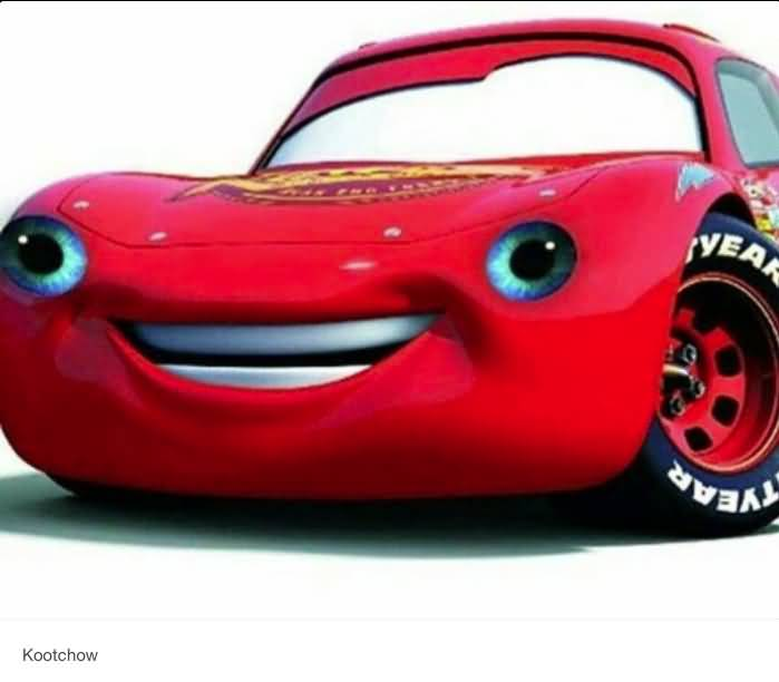 Smiling Red Car Cars Movie Memes