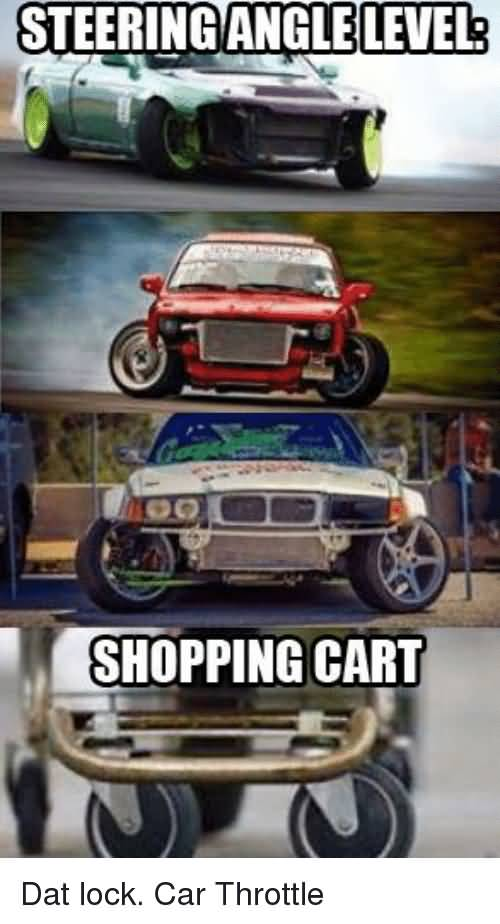 Steering Angle Level Shopping Car Memes Car Throttle
