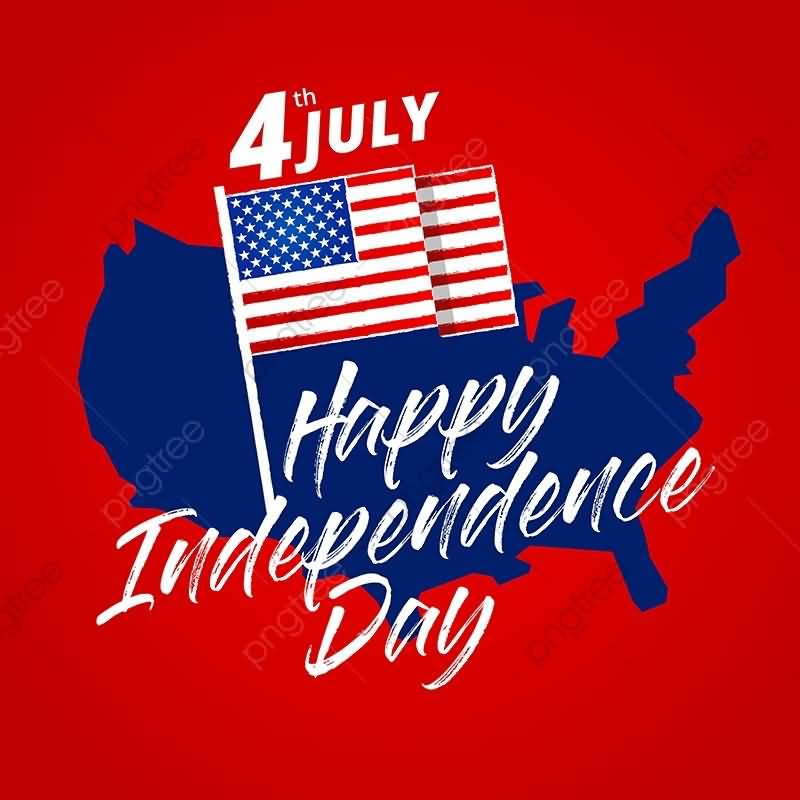 To My Family Happy Independence Day USA Message Cards Images