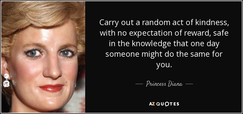 Carry On A Random Act Of Kindness