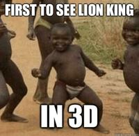 First To See Lion King African Meme