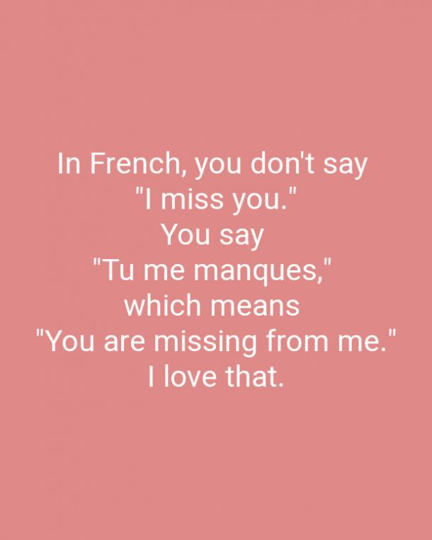 In French You Don't Say Love Quotes