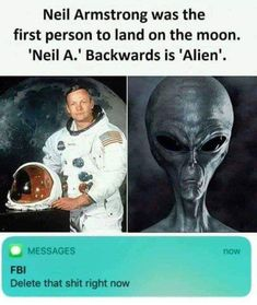Neil Armstrong Was The Alien Meme