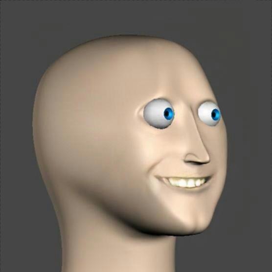 Smiling 3d Face For Meme 3d Meme
