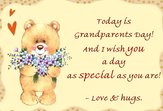 Special Greetings Cards Messages Images On Grandparents Day