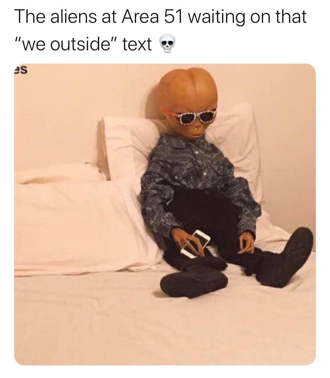 The Aliens At Area Alien Meme