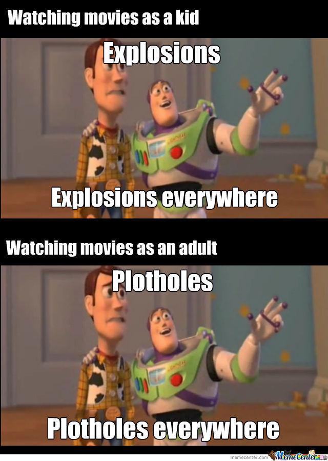 Watching Movies As A Kid 3d Meme
