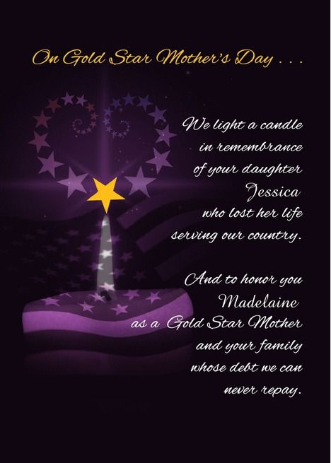 Beautiful Lines On Gold Star Mother's Day Have Lovely Day Wishes And Messages