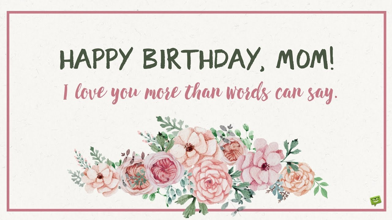 Best Mom Birthday Greetings Cards and Messgaes Images