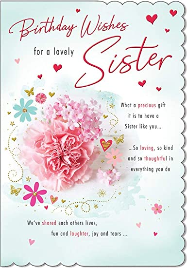 Best Sister Birthday Cards Greetings Messages And Images
